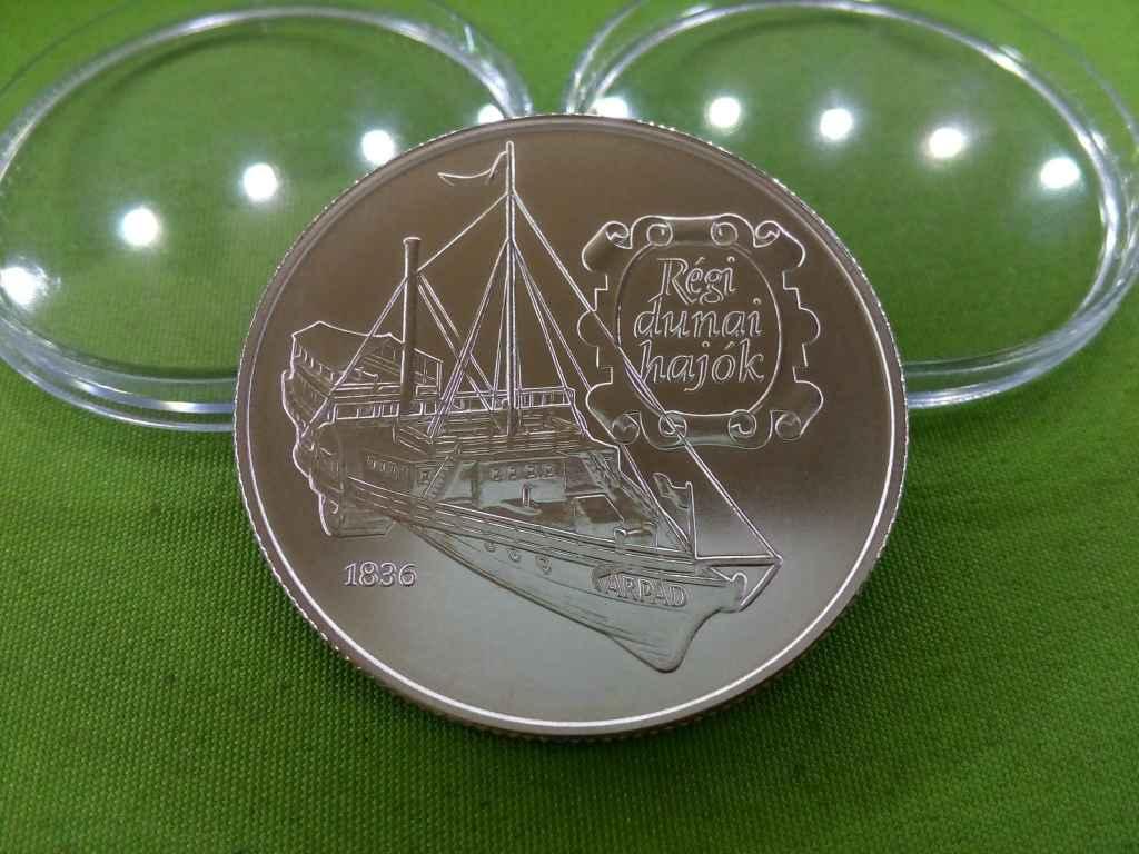 Régi dunai hajók - Árpád 1836 ezüst 500 Ft 1993 BU