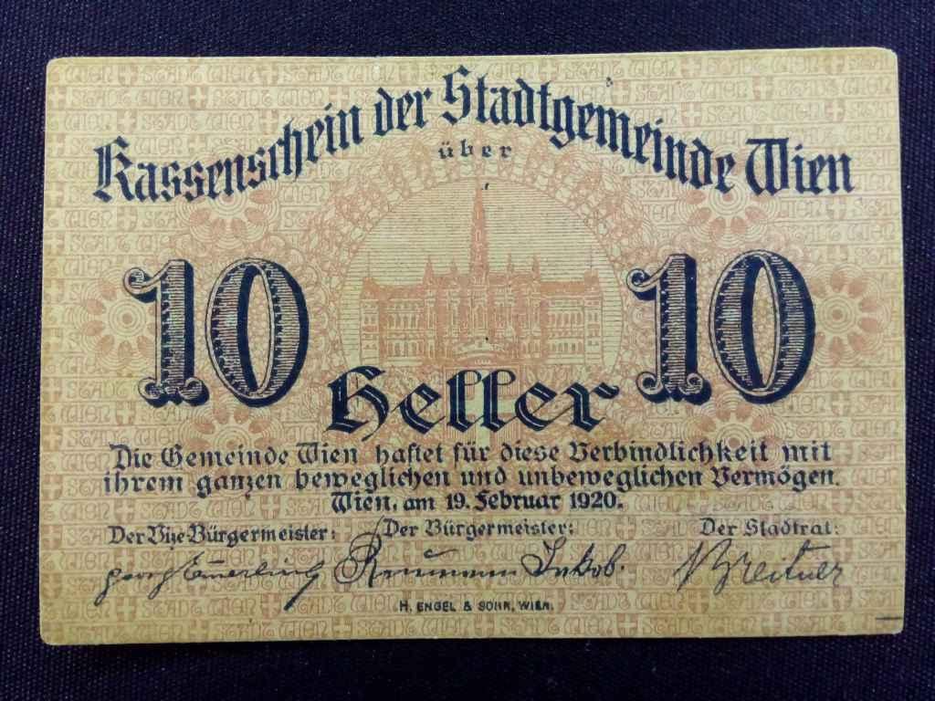 Osztrák 10 heller 1920 Bécs