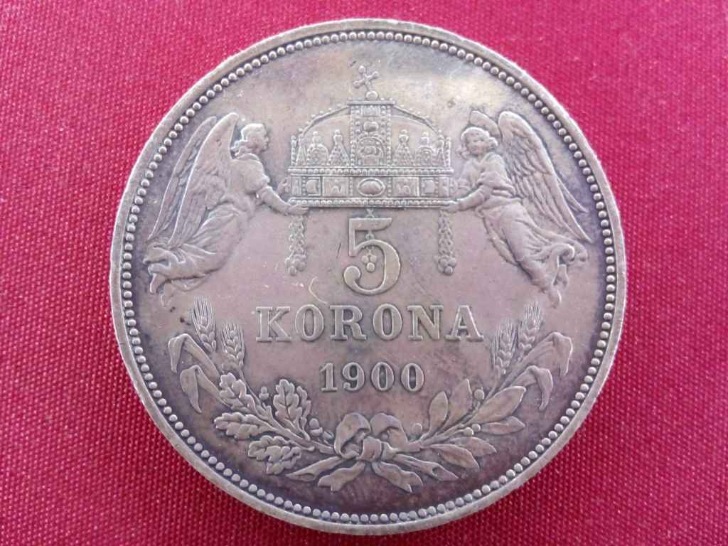 Extra szép 5 Korona 1900 - ritka ilyen állapotban!