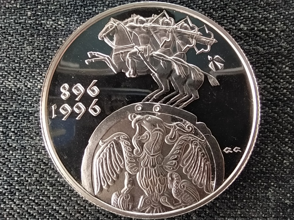 A Honfoglalás 1100 éves évfordulója ezüst 2000 Forint 1996 PP