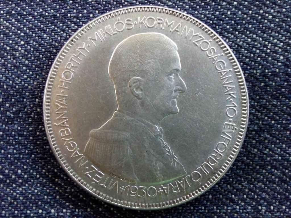 Extra szép hajas Horthy ezüst 5 Pengő 1930