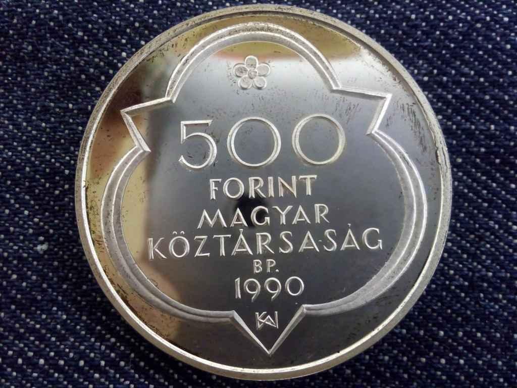 Budapest ezüst 500 Forint 1990 PP