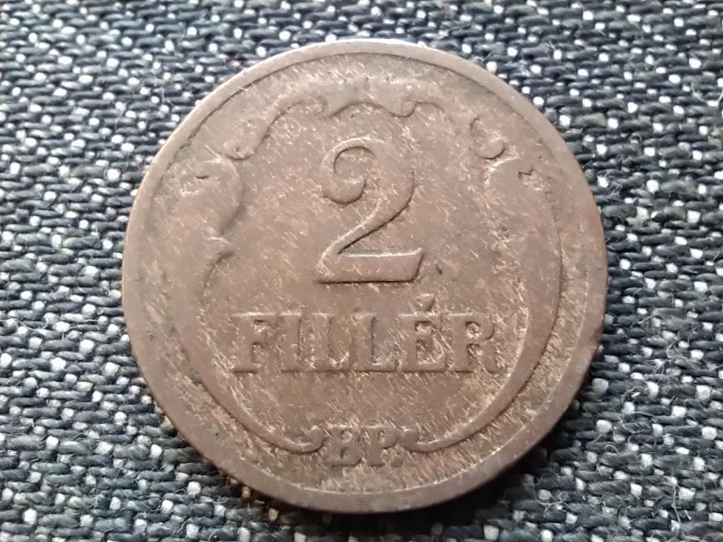 Háború előtti 2 fillér 1933 BP