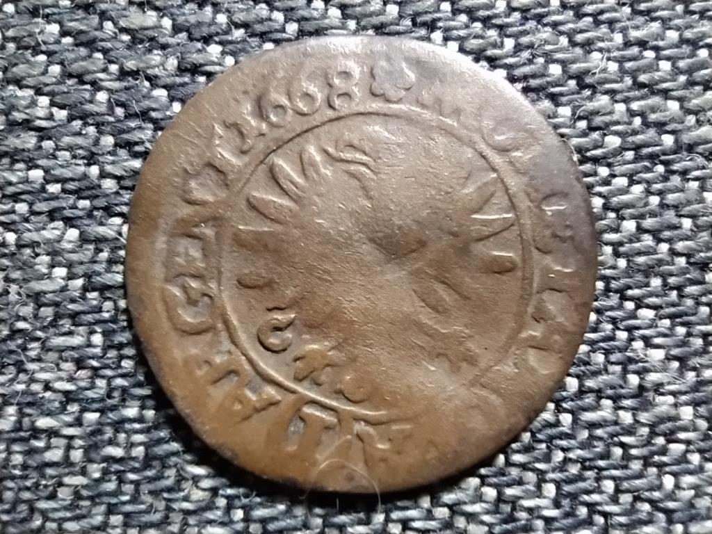 Német Államok Szilézia Christian, Brieg hercege ezüst 1 krajcár 1668