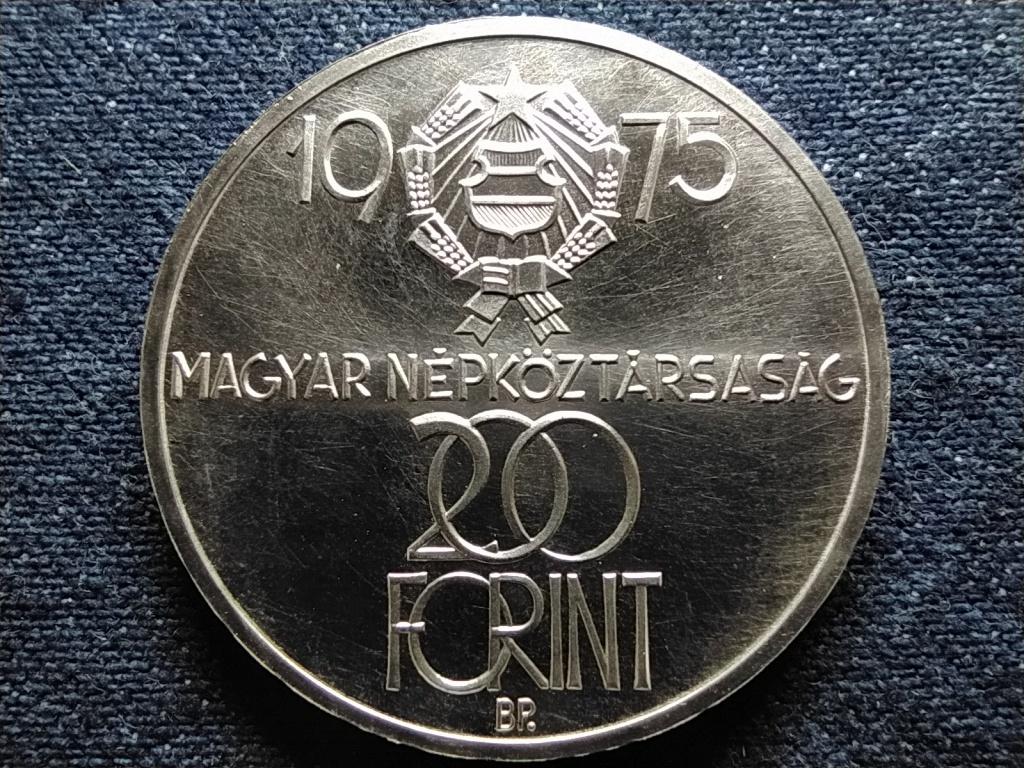 30 éves a Felszabadulás .640 ezüst 200 Forint 1975 BP BU