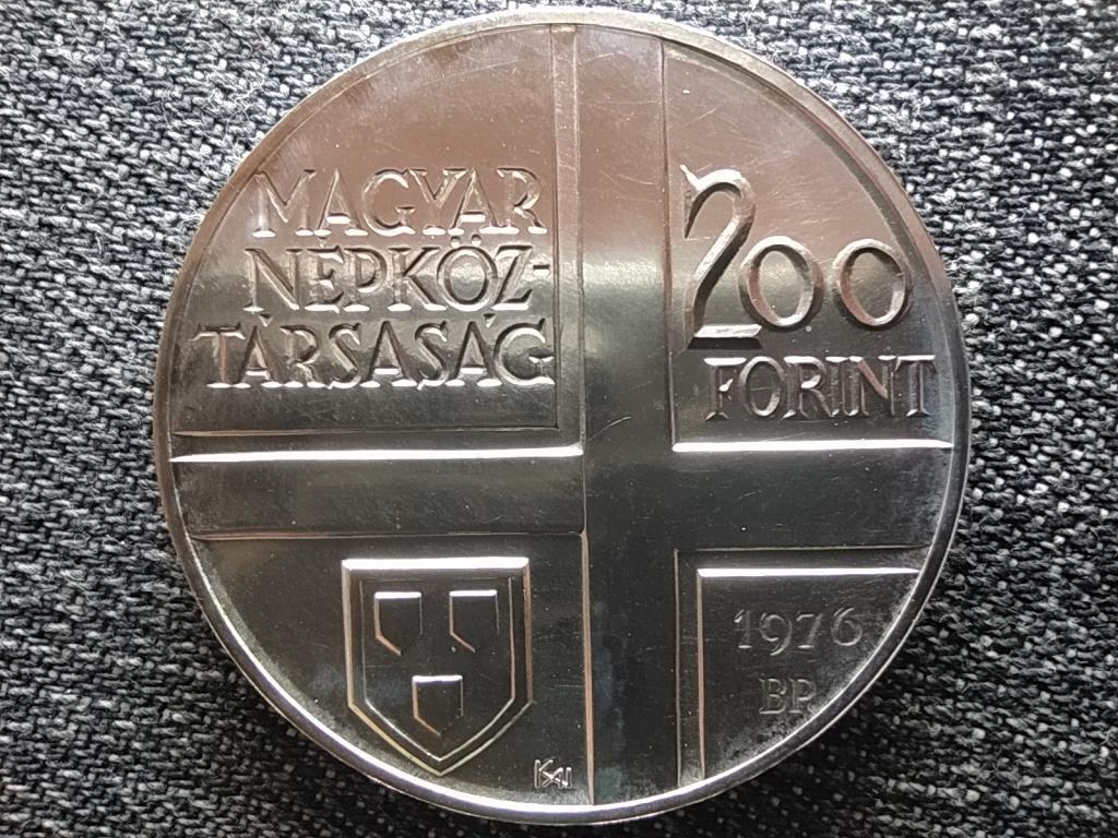 Munkácsy Mihály .640 ezüst 200 Forint 1976 BP BU