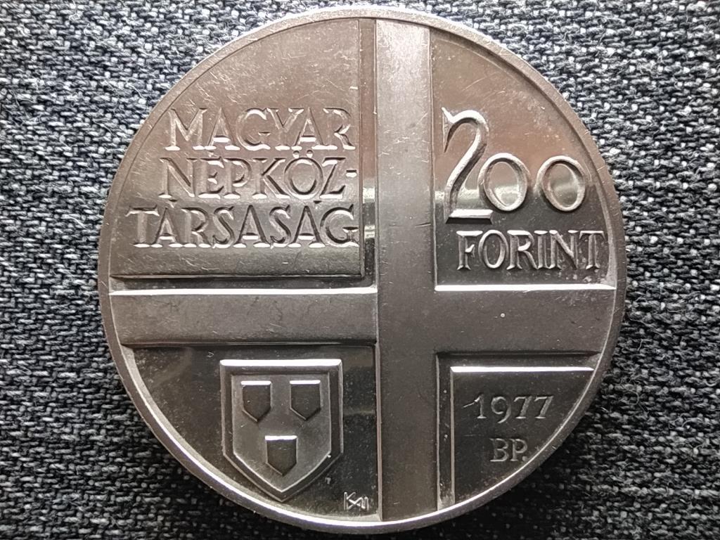 Mányoki Ádám .640 ezüst 200 Forint 1977 BP BU