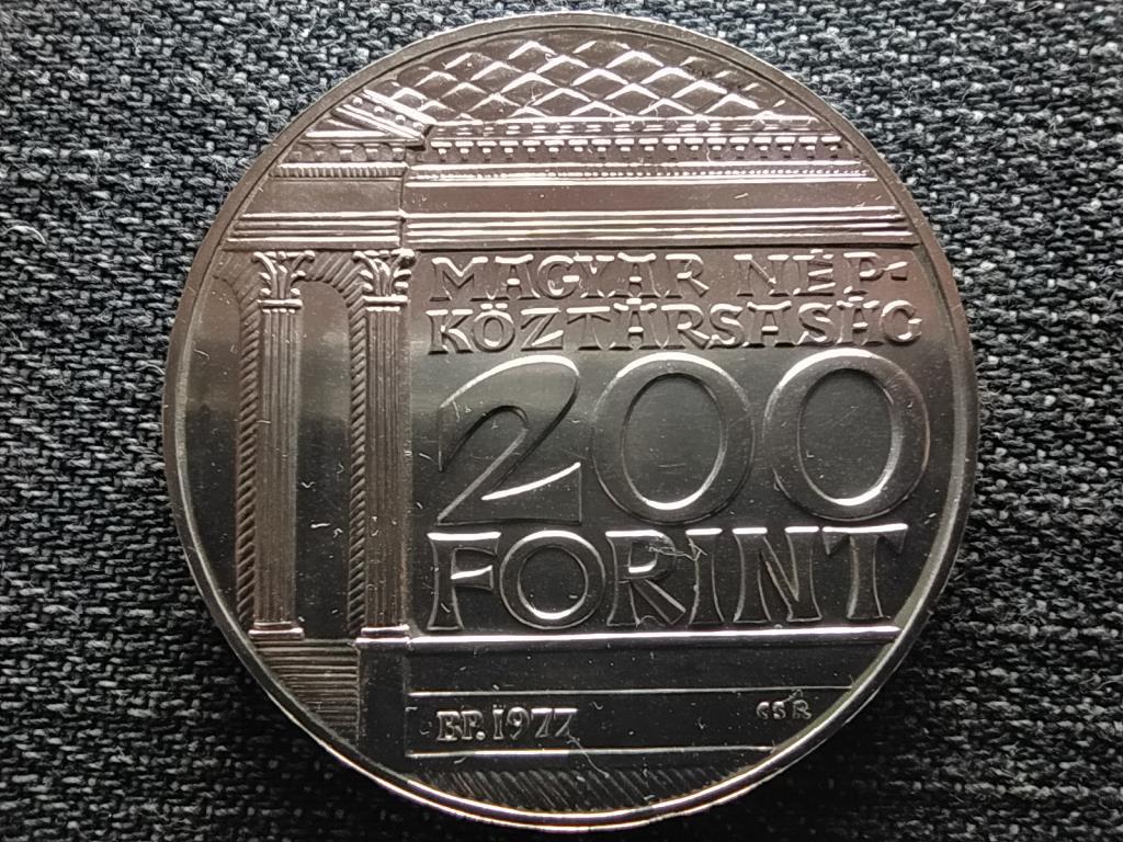 Magyar Nemzeti Múzeum alapításának 175. évfordulója .640 ezüst 200 Forint 1977 BP BU