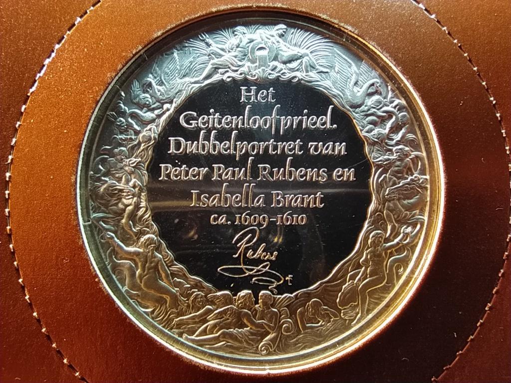 Rubens mesterművei Rubens és Izabella Brant  .925 ezüst emlék érem 1977