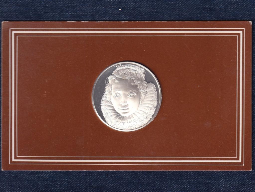 Rubens mesterművei Jong Meisje  .925 ezüst emlék érem 1977