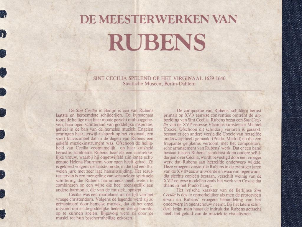 Rubens mesterművei Szent Cecília  .925 ezüst emlék érem 1977