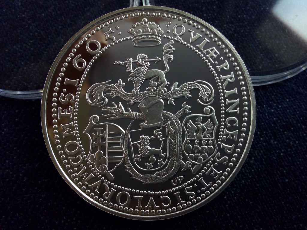 Magyar tallérok utánveretben Bocskai István tallérja 1605 .999 ezüst PP