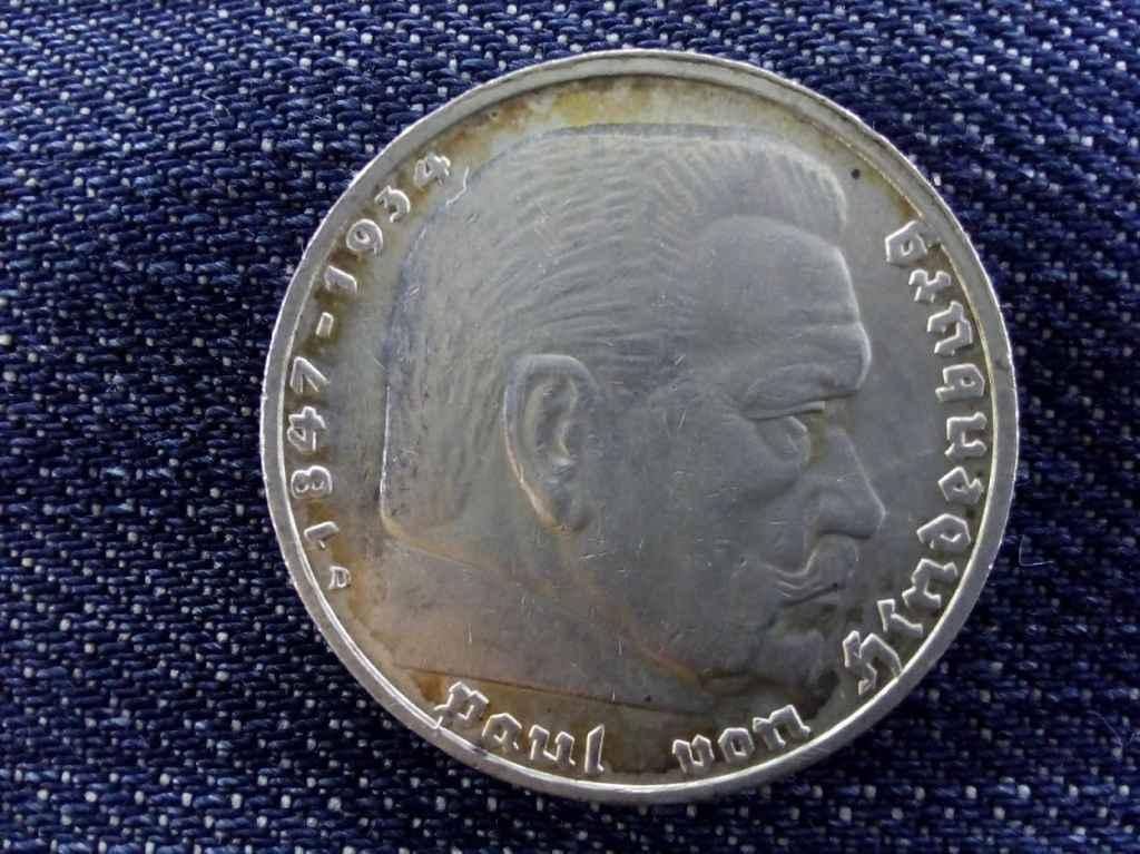 Horogkeresztes ezüst 5 márka 1936 D