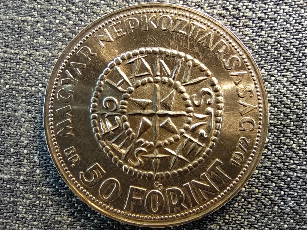 Szent István .640 ezüst 50 Forint 1972 BP BU