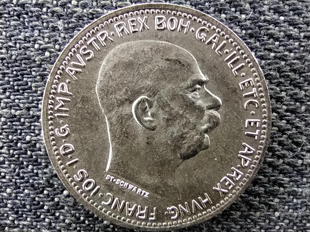 Ausztria Ferenc József Osztrák-Magyar .835 ezüst 1 Korona 1915 VERŐTŐ REPEDÉS