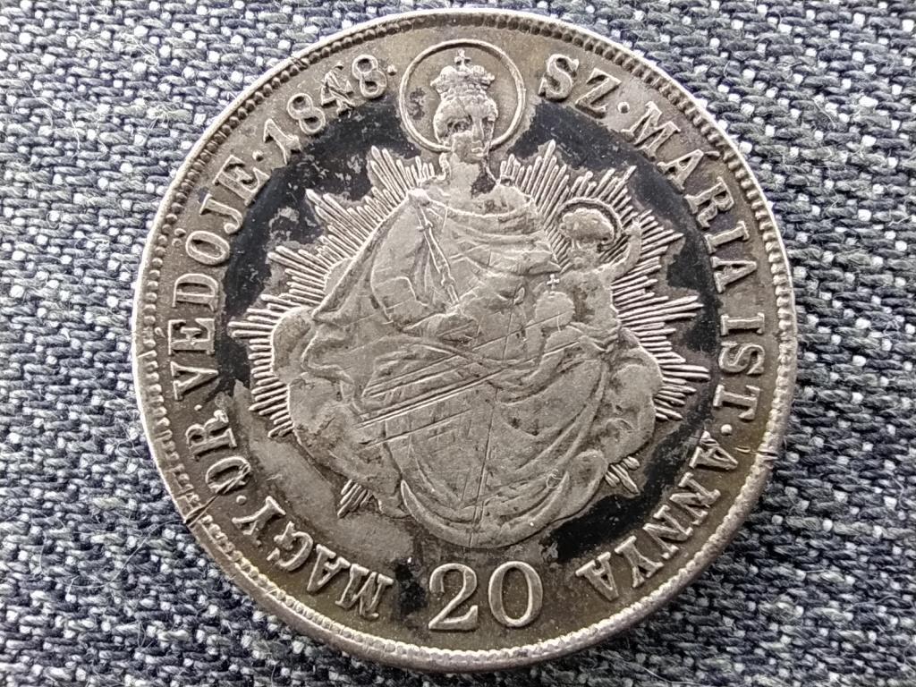 Szabadságharc .583 ezüst 20 Krajcár 1848 KB
