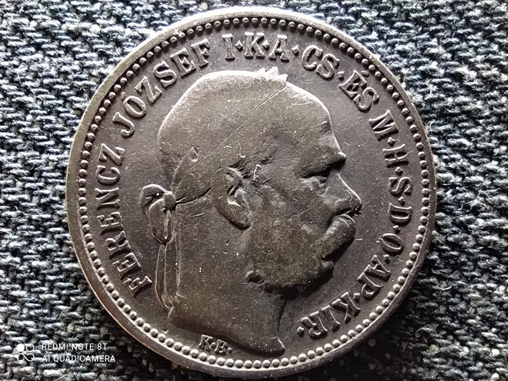 Osztrák-Magyar .835 ezüst 1 Korona 1892 KB Félrevert