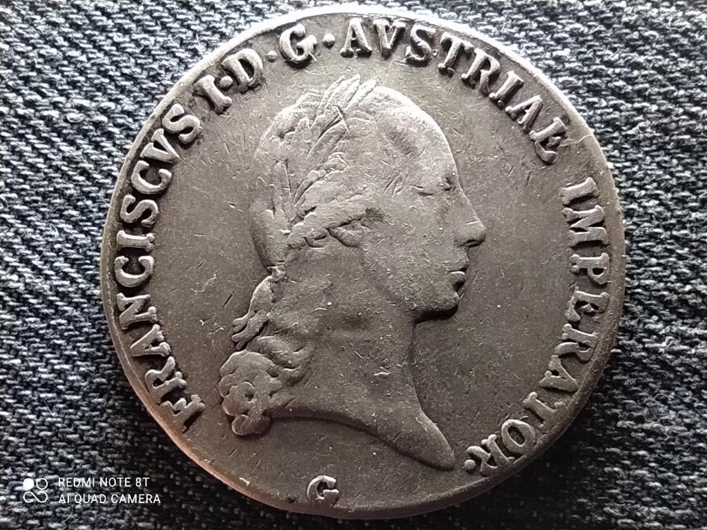 Ausztria II. Ferenc (1792-1835) .833 ezüst 1 Tallér 1821 G