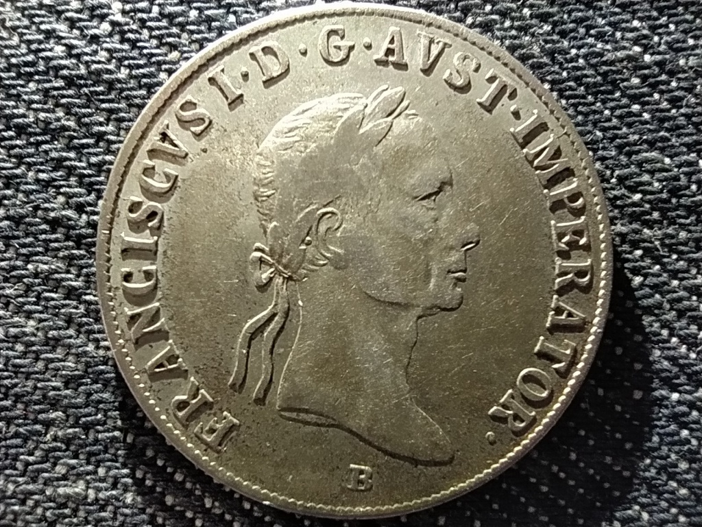 Ausztria II. Ferenc .583 ezüst 20 Krajcár 1833 B
