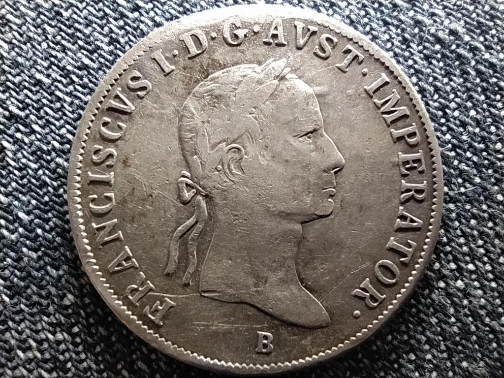 Ausztria II. Ferenc .583 ezüst 20 Krajcár 1835 B