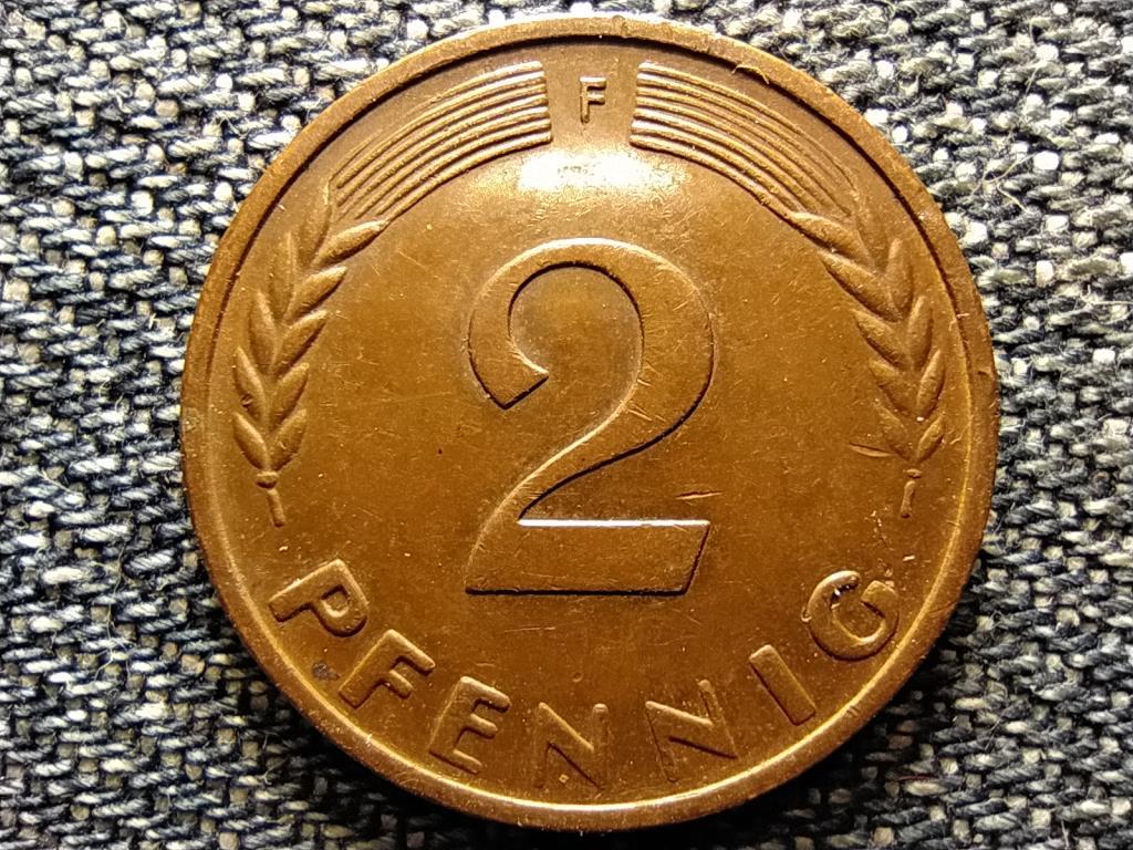 Németország NSZK (1949-1990) 2 Pfennig 1959 F