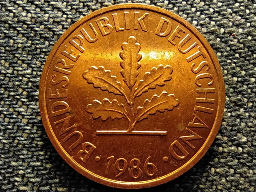 Németország NSZK (1949-1990) 2 Pfennig 1986 J