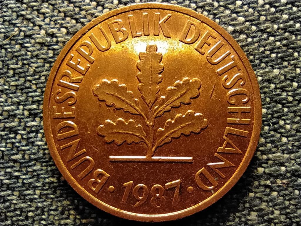 Németország NSZK (1949-1990) 2 Pfennig 1987 J