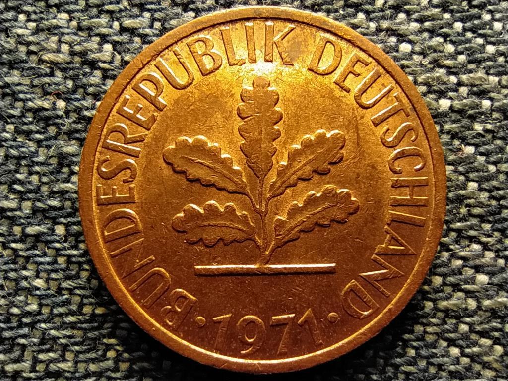 Németország NSZK (1949-1990) 1 Pfennig 1971 G
