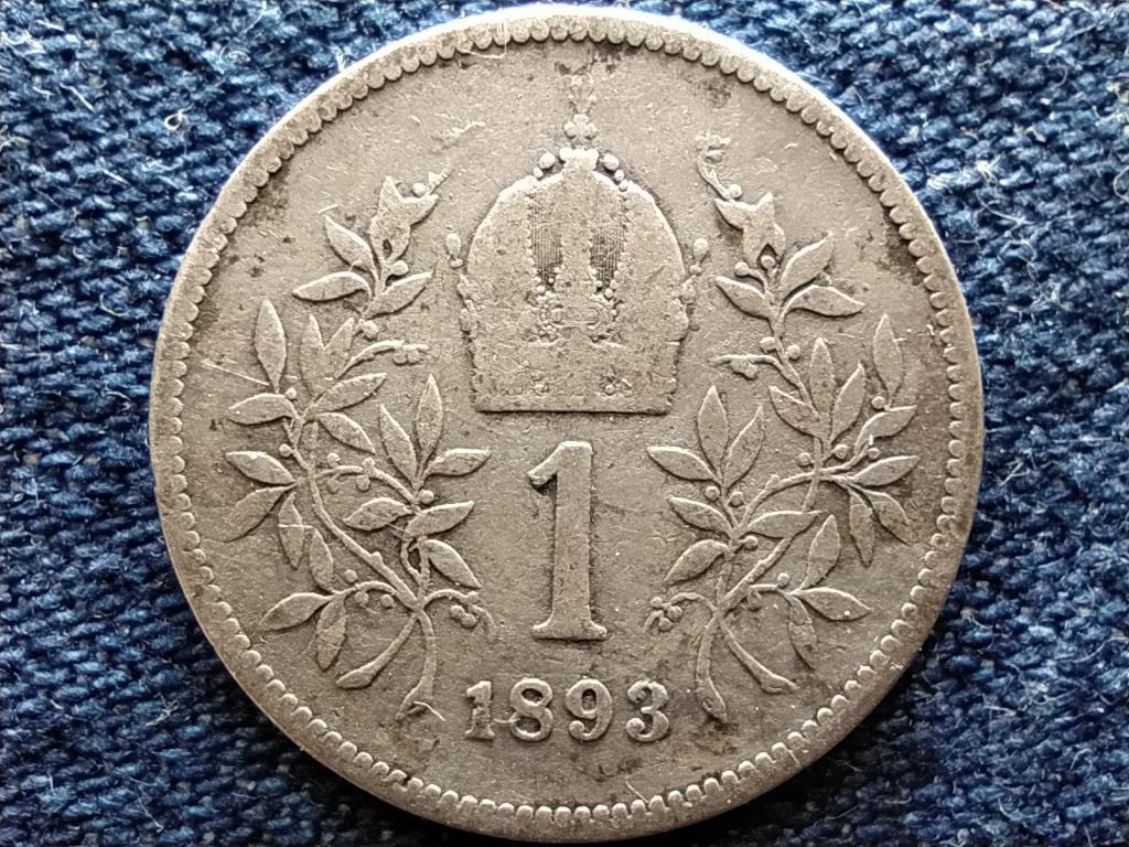 Ausztria Ferenc József Osztrák-Magyar .835 ezüst 1 Korona 1893