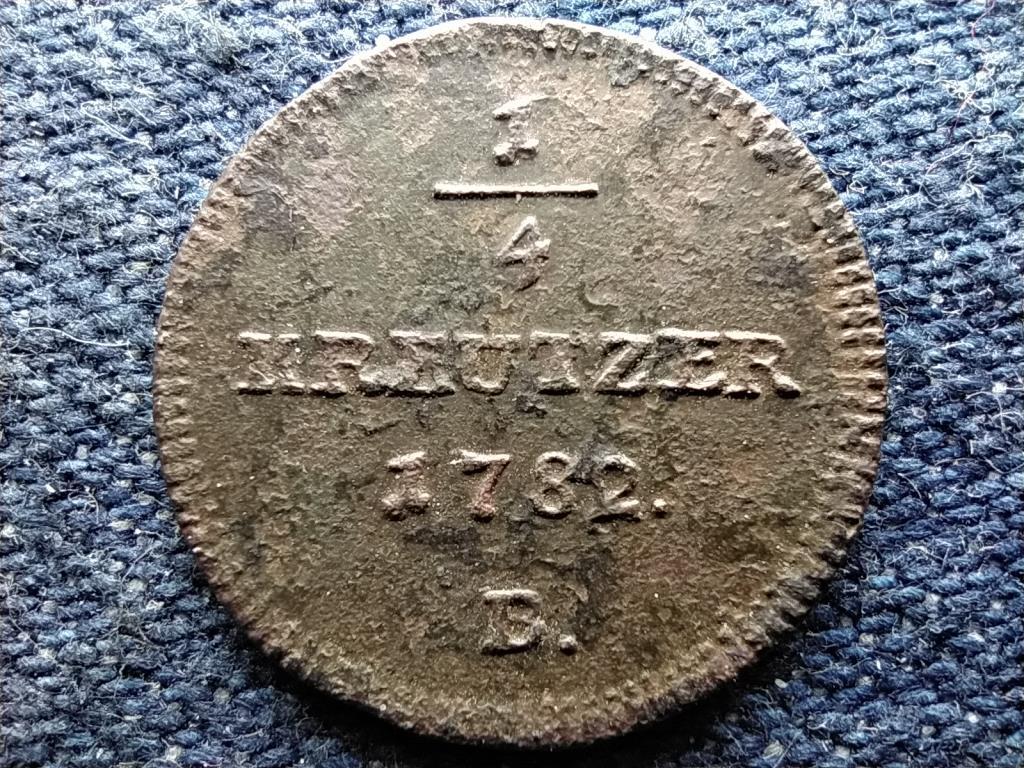 Ausztria II. József (1780-1790) 1/4 Krajcár 1782 B