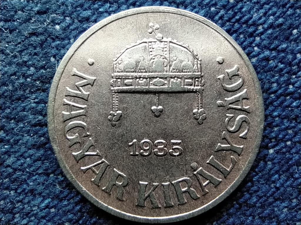 Háború előtti (1920-1940) ezüstözött 1 fillér 1935 BP