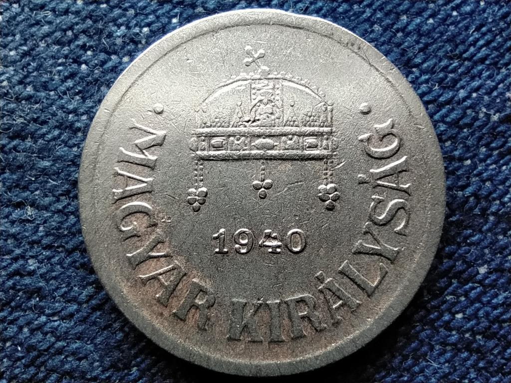 Háború előtti (1920-1940) ezüstözött 2 fillér 1940 BP