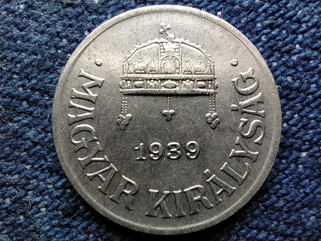 Háború előtti (1920-1940) ezüstözött 1 fillér 1939 BP