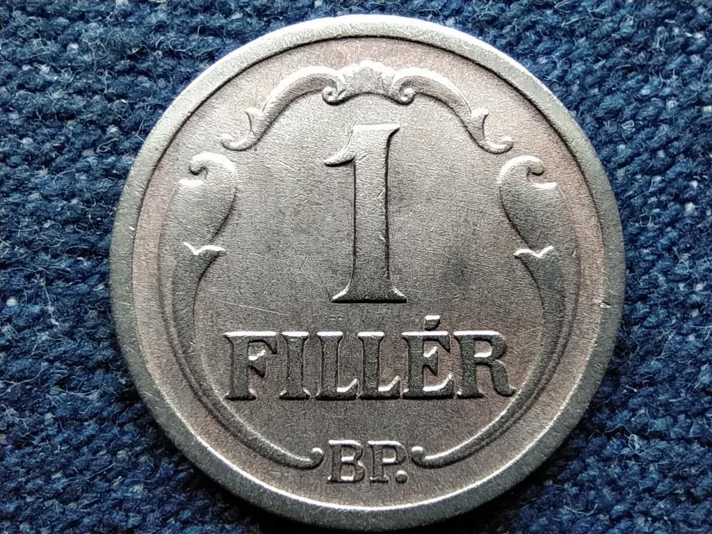 Háború előtti (1920-1940) ezüstözött 1 fillér 1936 BP