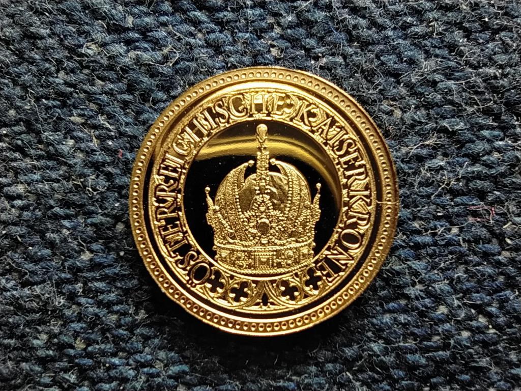 Történelmi Ausztria mini arany Bécsi kincstár .375 arany 0,5g PP