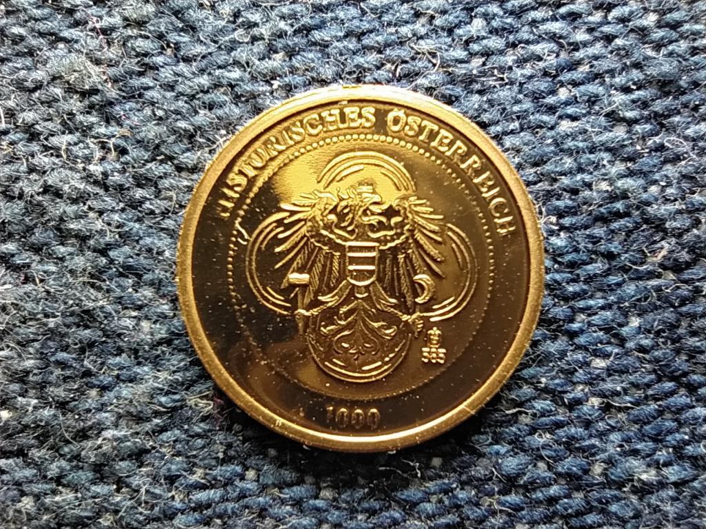 Történelmi Ausztria mini arany Erzsébet császárné .585 arany 0,5g PP