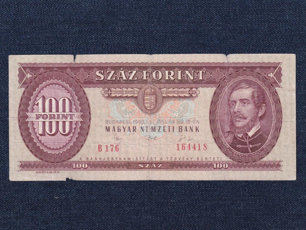 Harmadik Köztársaság (1989-napjainkig) 100 Forint bankjegy 1992