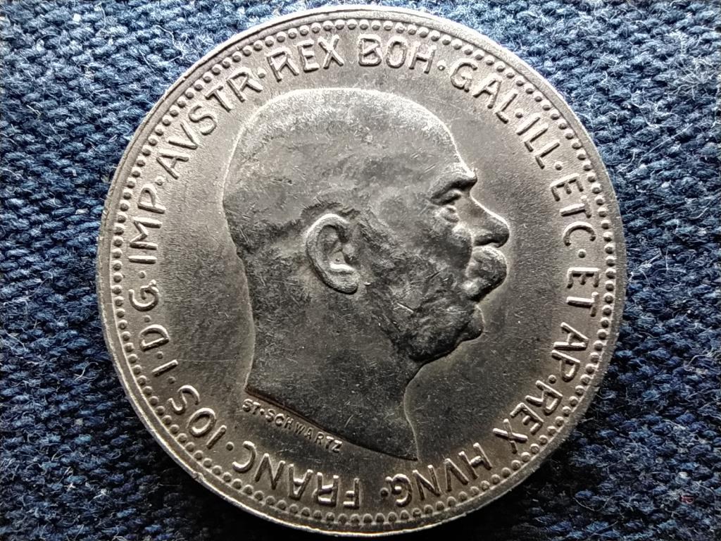 Ausztria Ferenc József Osztrák-Magyar .835 ezüst 1 Korona 1916
