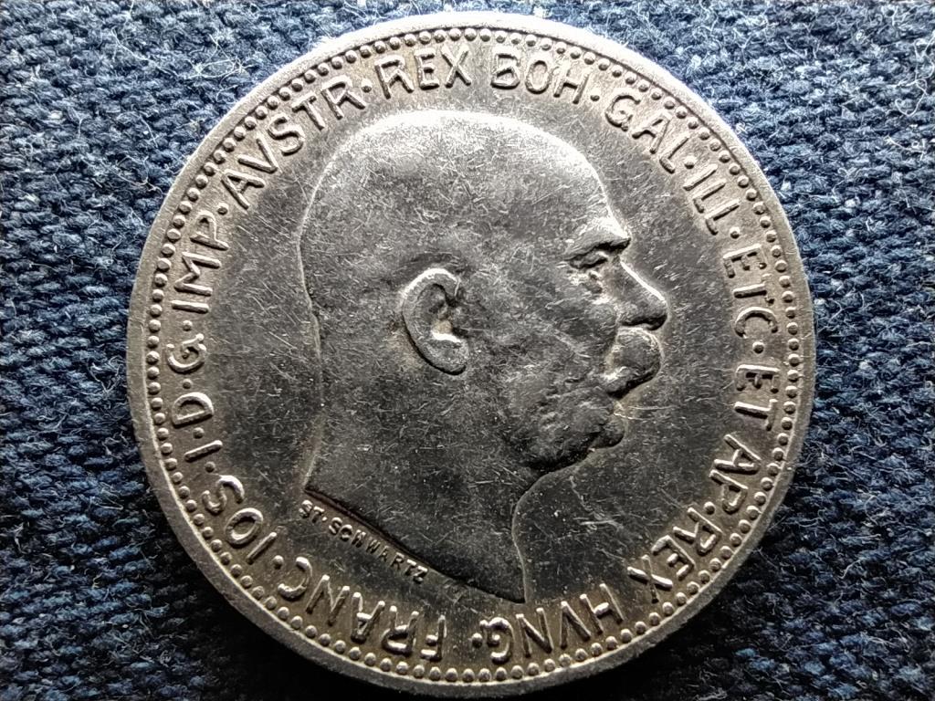 Ausztria Ferenc József Osztrák-Magyar .835 ezüst 1 Korona 1914