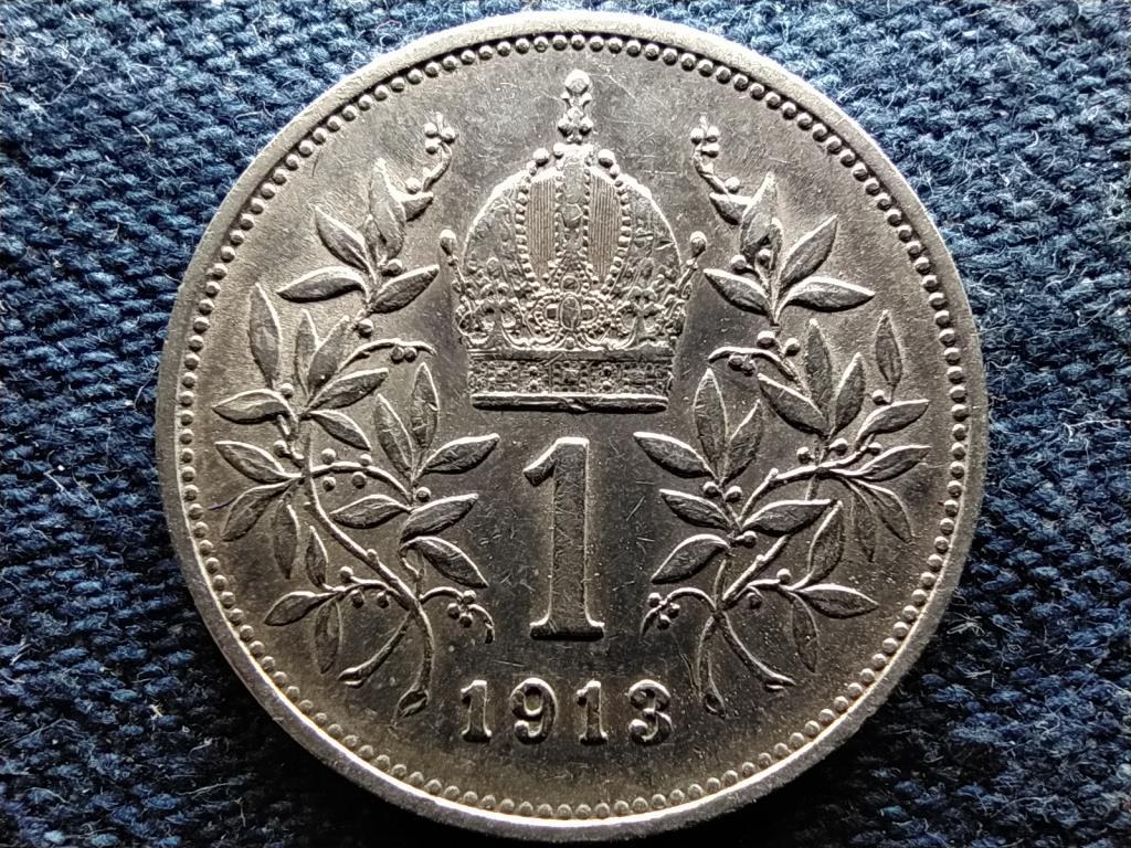 Ausztria Ferenc József Osztrák-Magyar .835 ezüst 1 Korona 1913