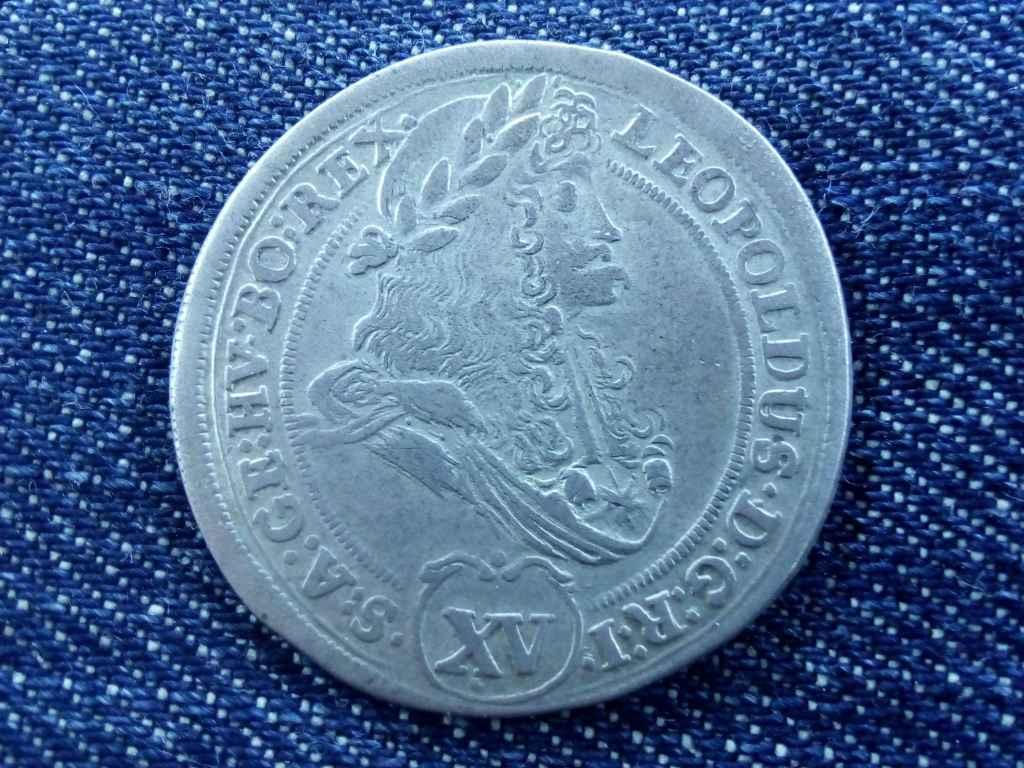 I. Lipót ezüst XV krajcár 1695 KB