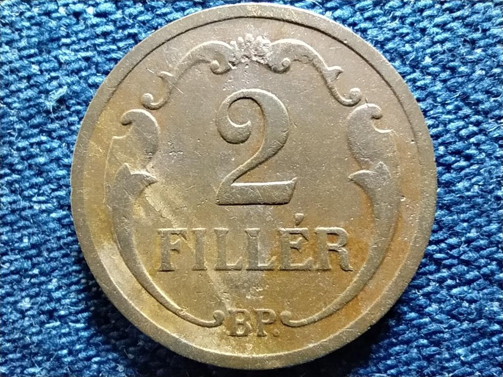 Háború előtti (1920-1940) 2 fillér 1934 BP
