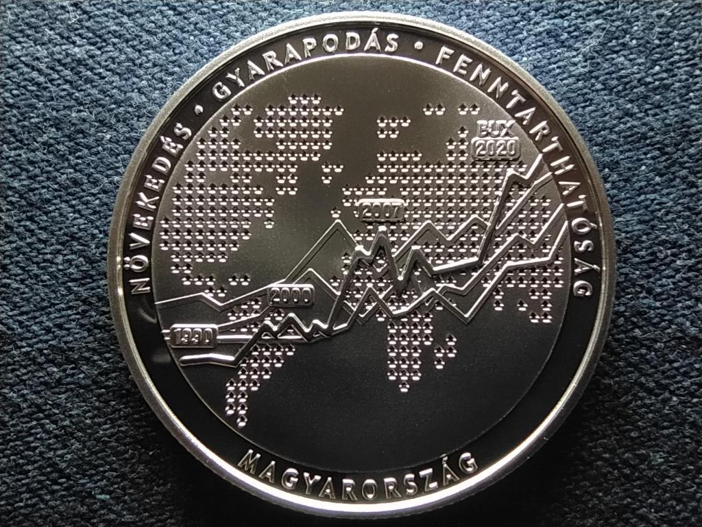30 éves a Budapesti Értéktőzsde .925 ezüst 10000 Forint 2020 BP PP