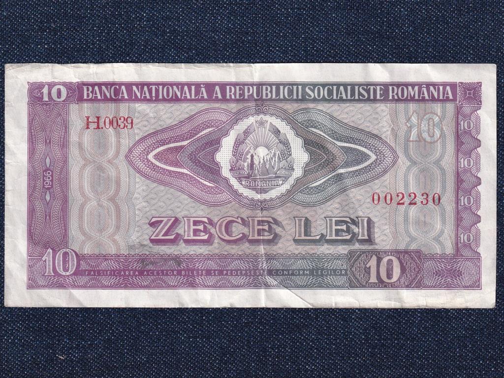 Románia 10 Lej bankjegy 1966