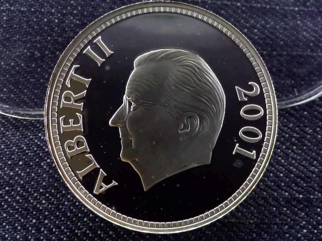 Belgium - Albert II. ritka 1 unciás színeszüst emlékérme