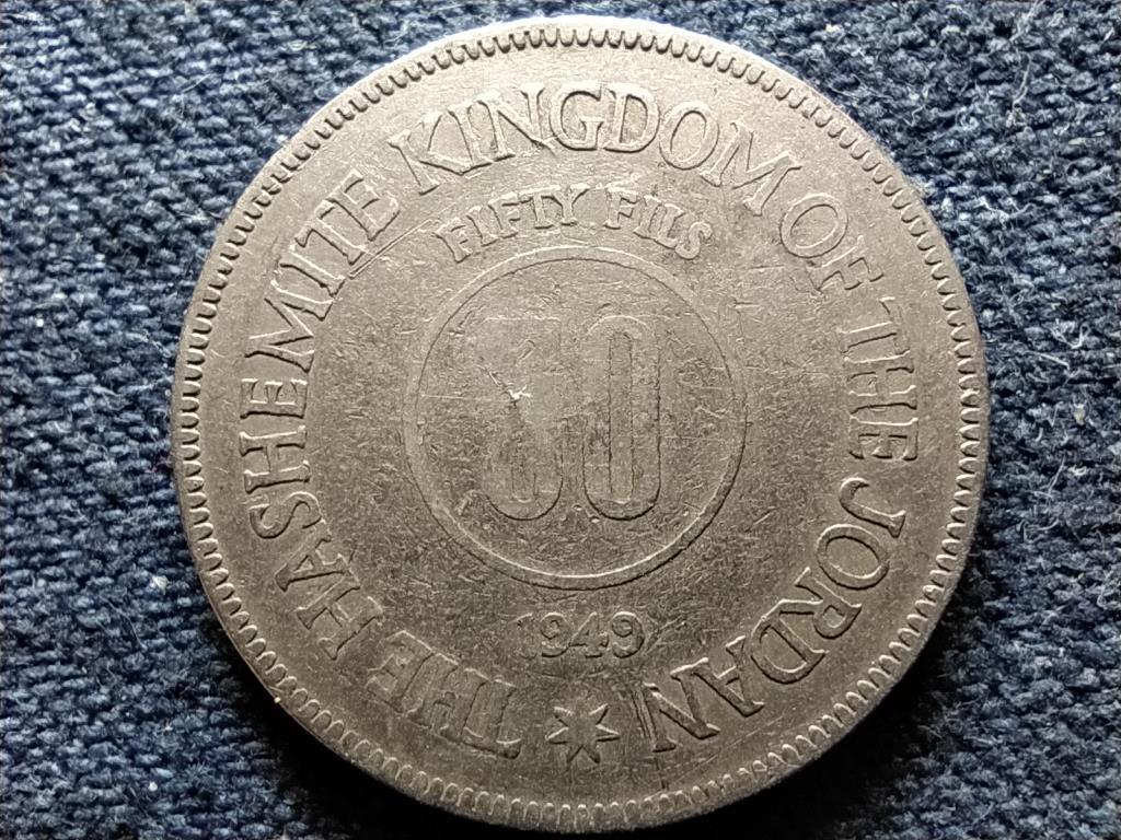 Jordánia I. Abdullah 50 fils 1949
