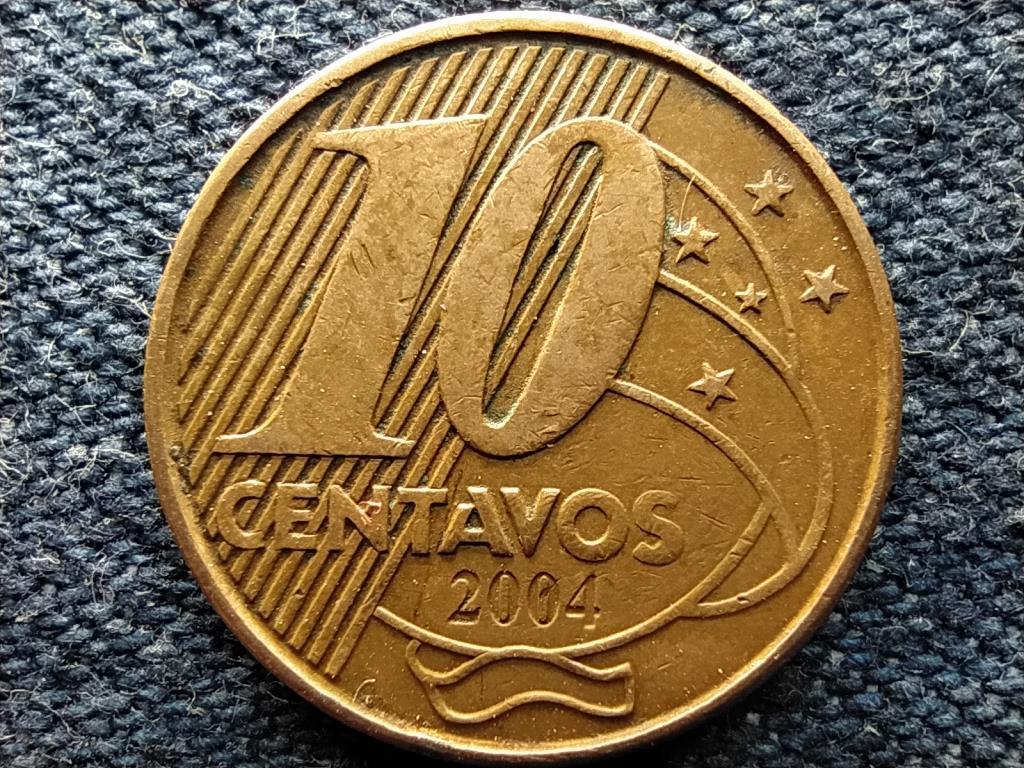 Brazília I. Pedro 10 centavó 2004