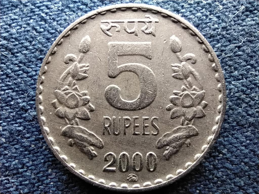 India 5 Rúpia 2000