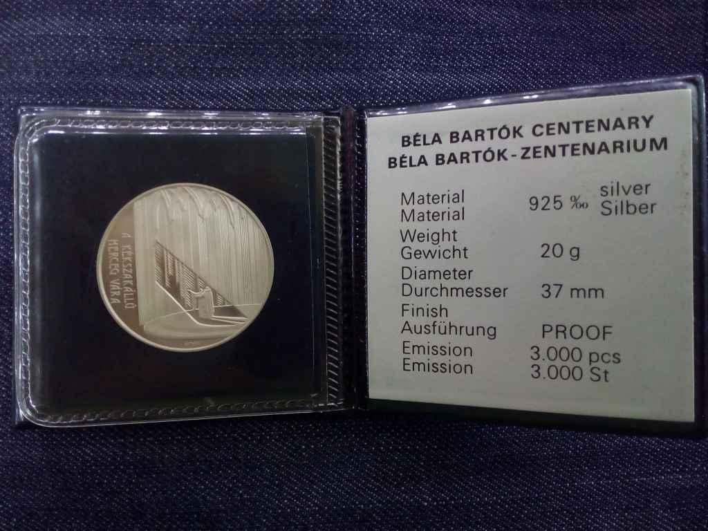 Extra! Bartók Béla centenárium - A kékszakállú herceg vára ezüst eredeti banki tokban