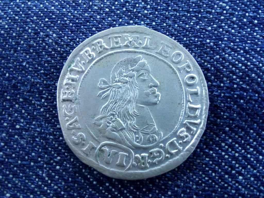 I. Lipót ezüst 6 krajcár KB 1671